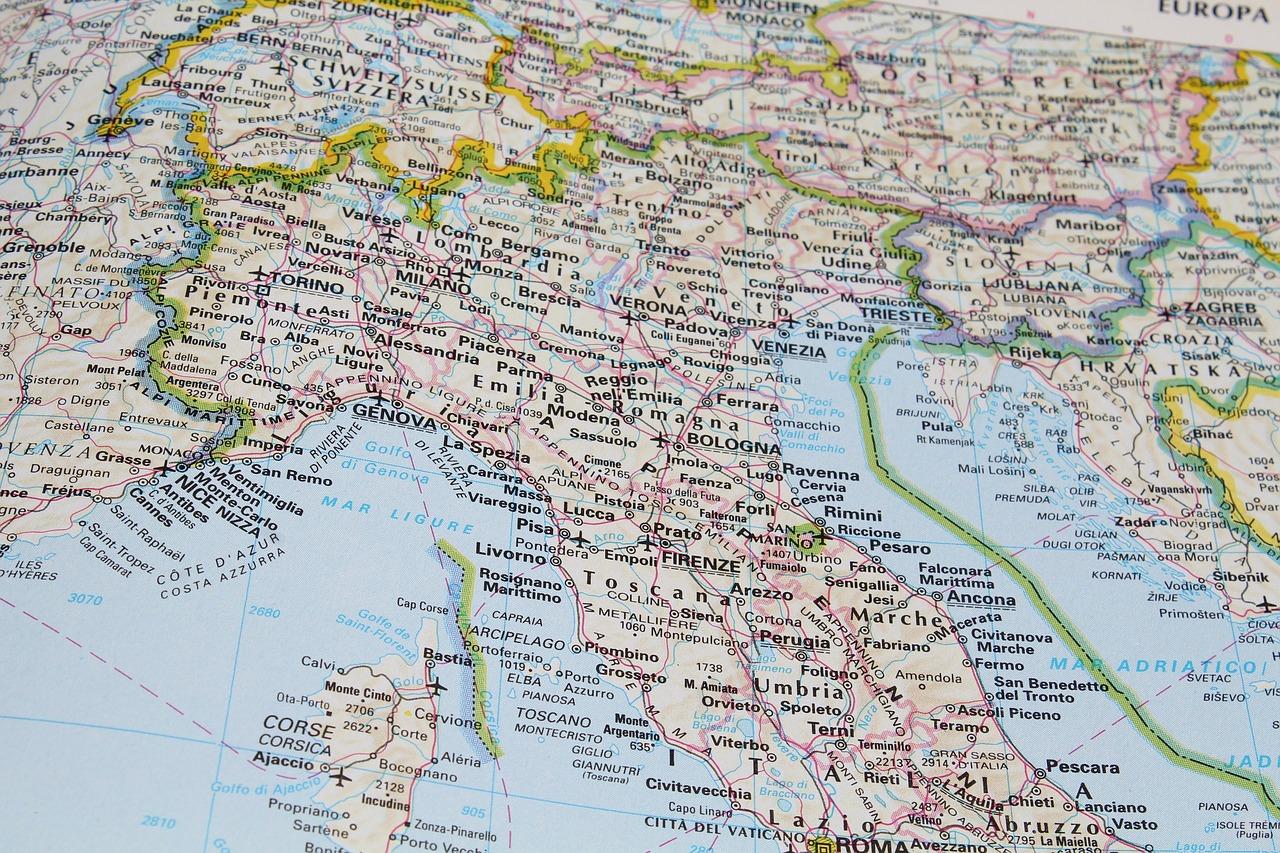 kaart italie