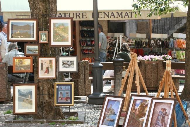 Kunst - Italiaanse markt van Bardolino