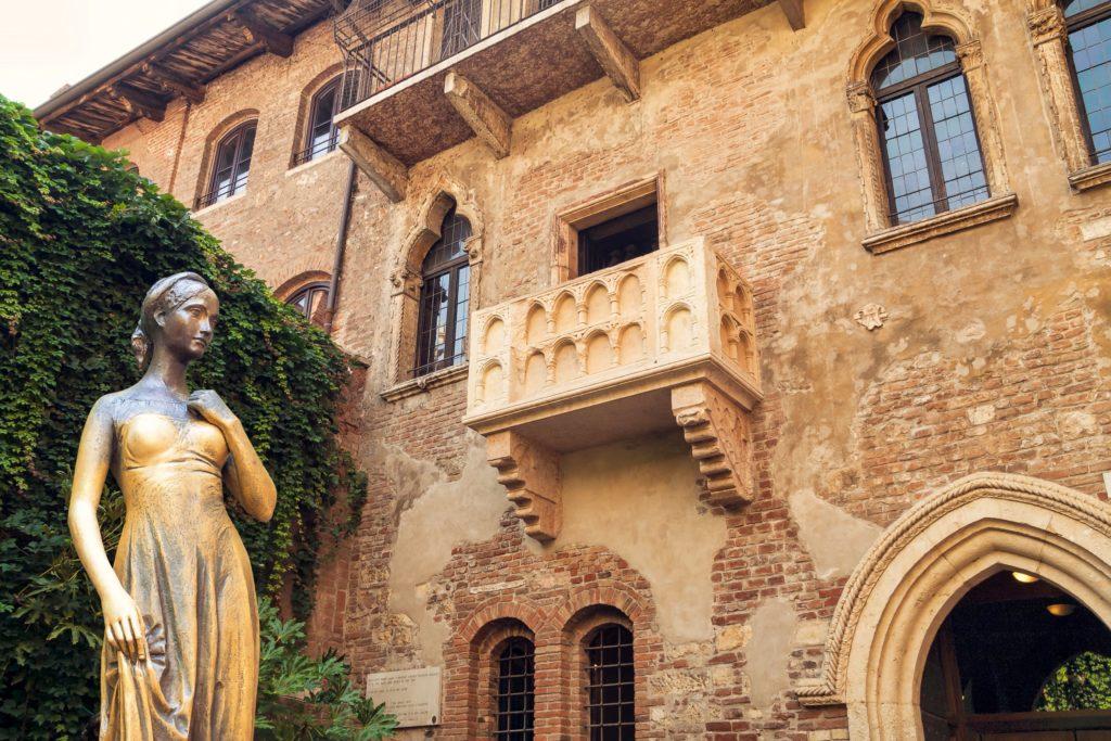 Foto van huis van Romeo en Julia in Verona